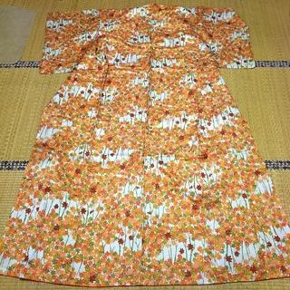 ミツコシ(三越)の付け下げ ポリエステル100% 化繊 紅葉(着物)