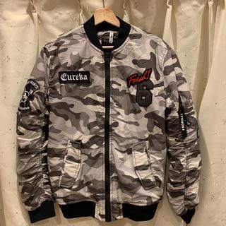 ベルシュカ(Bershka)のベルシュカ 迷彩ワッペン MA-1ジャケット(ブルゾン)