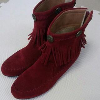 ミスティウーマン(mysty woman)の赤ブーツ☆mysty woman☆(ブーツ)