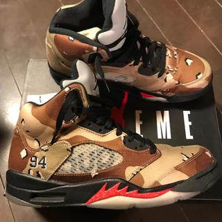 シュプリーム(Supreme)のsupreme Jordan5 オフホワイト エアフォース dunk ジョーダン(スニーカー)