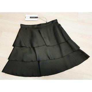 マックスマーラ(Max Mara)のマックスマーラ シルク混 フリル付きスカート ブラック(ミニスカート)