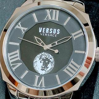 ヴェルサーチ(VERSACE)の◆世界限定品◆新品 高級VERSUS VERSACE 腕時計 ブラック シルバー(腕時計(アナログ))