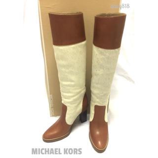 マイケルコース(Michael Kors)の【美品】MICHAEL KORS ハラコロングブーツ 22.5cm(ブーツ)