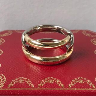 カルティエ(Cartier)のカルティエ cartier 2連リング コンビ k18 ゴールド YG×WG(リング(指輪))