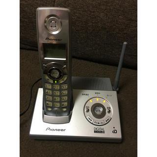 パイオニア(Pioneer)のパイオニア コードレス留守番電話機 TF-FD1200-S(その他)