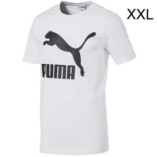 プーマ(PUMA)の新品 PUMA☆XXL CLASSICS ロゴ  Tシャツ 白 プーマ(Tシャツ/カットソー(半袖/袖なし))