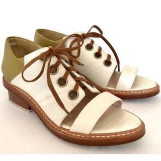 スリーワンフィリップリム(3.1 Phillip Lim)のフィリップ リム レースアップ シューズ サンダル ミュール 美品(ローファー/革靴)
