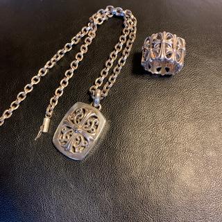 クロムハーツ(Chrome Hearts)のシルバニア様専用 クロムハーツネックレス 指輪(3月末まで)(ネックレス)