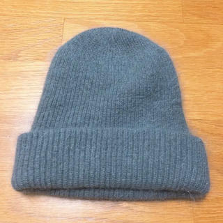 レプシィム(LEPSIM)のLEPSIM ニット帽 グレー ニットキャップ(ニット帽/ビーニー)