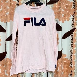 フィラ(FILA)のFILA Fila フィラ 長袖 長袖Tシャツ ロンT ピンク ロゴ(Tシャツ(長袖/七分))