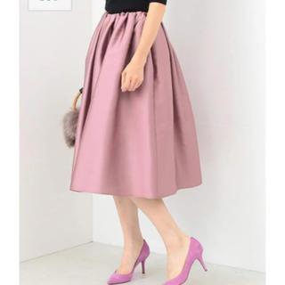 デミルクスビームス(Demi-Luxe BEAMS)のDemi-luxe beams フレアスカート(ひざ丈スカート)
