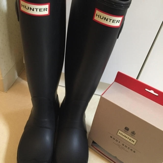 ハンター(HUNTER)のhunter♡ブーツandソックス(レインブーツ/長靴)