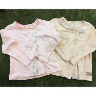 ビケット(Biquette)のビケット 90 女の子 カーディガン  ロンT 2枚(Tシャツ/カットソー)