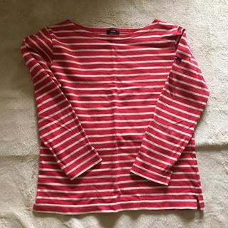 インエ 赤×ベージュボーダーTシャツ