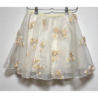 ハニーミーハニー(Honey mi Honey)のハニーミーハニー♡ マーガレット柄 スカート インナーパンツ付き(ミニスカート)
