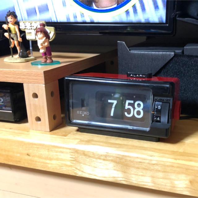 SEIKO(セイコー)のSEIKO パタパタ時計 アラーム ライト付き 80sレッド インテリア/住まい/日用品のインテリア小物(置時計)の商品写真