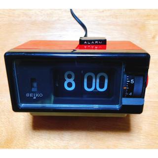 セイコー(SEIKO)のSEIKO パタパタ時計 アラーム ライト付き 80sレッド(置時計)