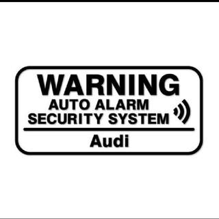 アウディ(AUDI)のAudi アウディ 盗難防止 セキュリティ いたずら防止 ステッカー シルバー(セキュリティ)