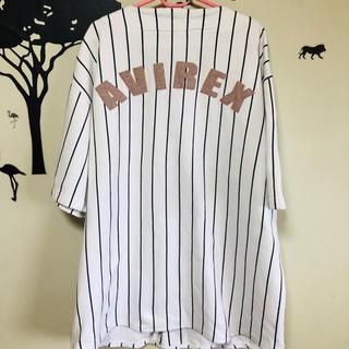 アヴィレックス(AVIREX)の58・1点物・激レア・アヴィレックス・ゲームシャツ・ストライプ(スウェット)