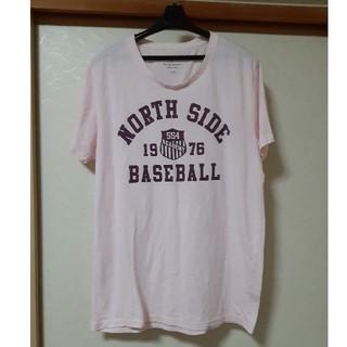 メンズ 半袖Tシャツ ピンク XL(Tシャツ/カットソー(半袖/袖なし))