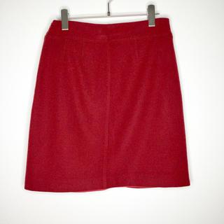 マックスマーラ(Max Mara)のウィークエンドマックスマーラ ミニ スカート ウール レッド Mサイズ(ミニスカート)