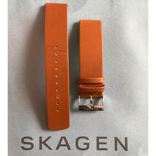 スカーゲン(SKAGEN)のSKAGEN 腕時計の交換ベルト 美品 ブラウンレザー(レザーベルト)