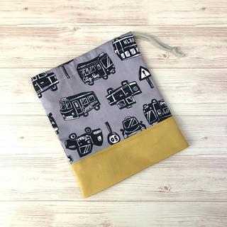 コップ袋 くるま 1(バッグ/レッスンバッグ)