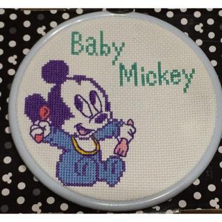 ディズニー(Disney)の【出産祝い】男の子用 ディズニー ベビーミッキー オリムパス刺しゅうキット完成品(おもちゃ/雑貨)
