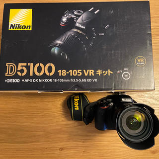 ニコン(Nikon)のNikon D5100 18-105レンズキット★バッテリー2つ付き★(デジタル一眼)