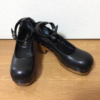 ジェーンマープル(JaneMarple)のJaneMarple 木底ストラップシューズ (ローファー/革靴)