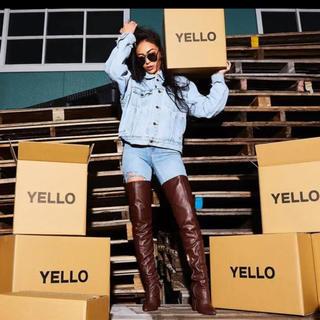 イエローブーツ(Yellow boots)のYellow boots ロングブーツ ブラウン S(ブーツ)