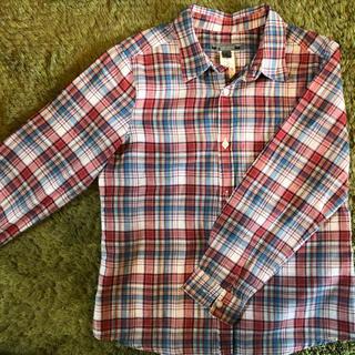ボンポワン(Bonpoint)のボンポワン Bonpoint チェックシャツ 6(ブラウス)