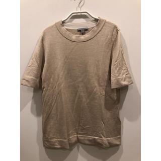 コス(COS)のCOS シルク ニットTシャツ ベージュ(Tシャツ(半袖/袖なし))