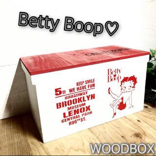 ウッドボックス ウッド 木製 WHITE×RED 2Lペットボトル 収納可能箱(キッチン収納)