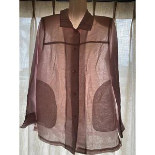イデー(IDEE)のシースルーピンクシャツ (Tシャツ(長袖/七分))