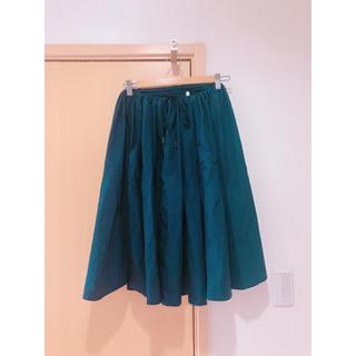 ルグラジック(LE GLAZIK)のルグラジック タイプライタークロス ギャザースカート(ひざ丈スカート)
