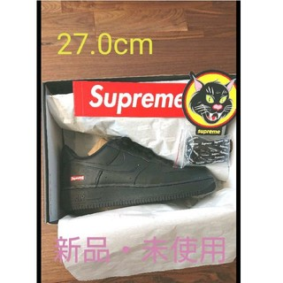 シュプリーム(Supreme)のSupreme NIKE Air Force 1 Black 27.0 US9(スニーカー)