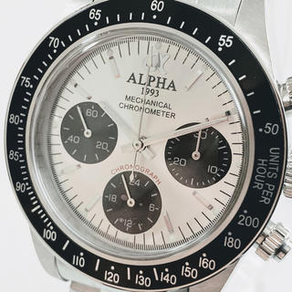 alpha - ◆激レア【新品】/アルファ/1993/ポールニューマン/デイトナタイプ/腕時計