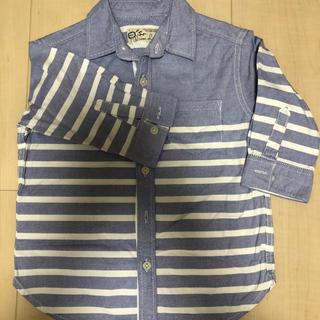 エイチアンドエム(H&M)の110センチ ストライプシャツ(ブラウス)
