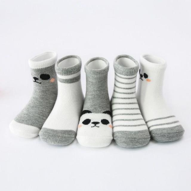 petitNATS❤グレーパンダ《13〜15cm》〔ms18012-s〕 キッズ/ベビー/マタニティのこども用ファッション小物(靴下/タイツ)の商品写真