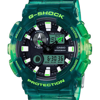 ジーショック(G-SHOCK)のGショックGライド ジーライド グリーンスケルトン 電波ソーラー 国内正規品 (腕時計(デジタル))