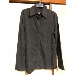 グッチ(Gucci)のgucci グッチ 黒 ブラウス シャツ ブラック(Tシャツ(長袖/七分))