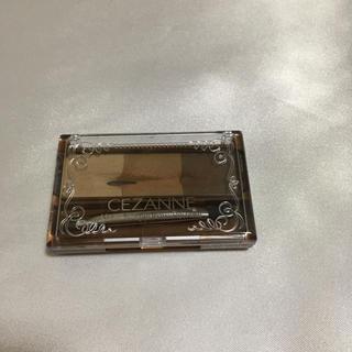 セザンヌケショウヒン(CEZANNE(セザンヌ化粧品))のセザンヌ ノーズ&アイブロウパウダー01 キャメル(パウダーアイブロウ)