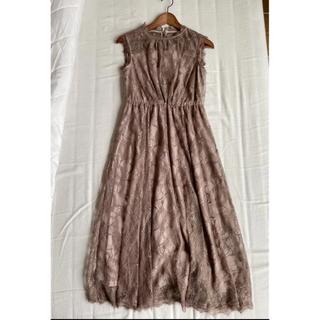 アーバンリサーチロッソ(URBAN RESEARCH ROSSO)のアーバンリサーチロッソ ブラウン レース ロングワンピース ドレス(ロングドレス)