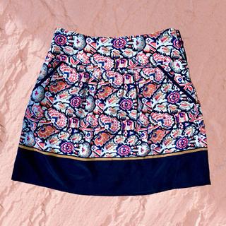 コントワーデコトニエ(Comptoir des cotonniers)のコントワーデコトニエ シルク 柄 スカート(ひざ丈スカート)