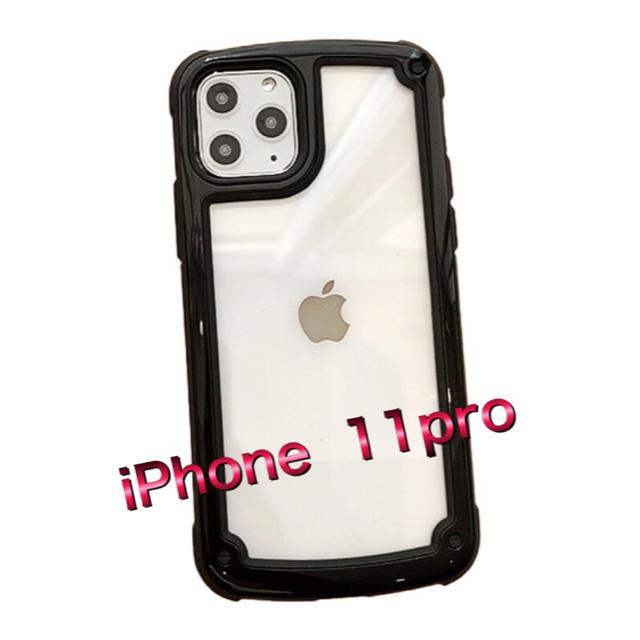 MCM iPhone 11 ケース アップルロゴ 、 iPhone11proケース  透明 黒 ブラック 衝撃吸収エアバッグ の通販 by YUKI73's shop|ラクマ