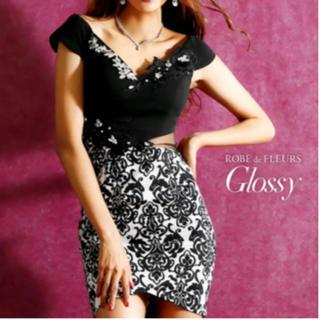 ローブ(ROBE)のローブドフルール グロッシー robe de fleurs glossy ドレス(ミニドレス)