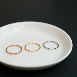 極細1㎜サージカルステンレステンレス ピンキーリング関節リング   (リング(指輪))