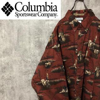 コロンビア(Columbia)の【激レア】コロンビア☆アニマル柄ドッグ柄畝入りビッグハンティングシャツ(シャツ)