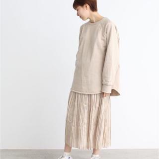 ドットアンドストライプスチャイルドウーマン(Dot&Stripes CHILDWOMAN)のDot&Stripes プラチナサテン ワッシャープリーツスカート(ロングスカート)